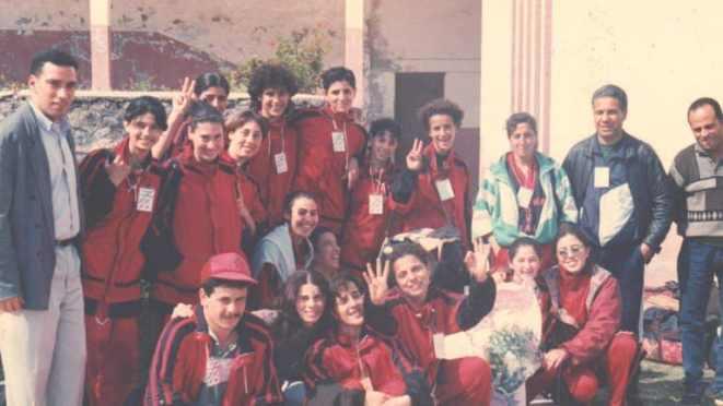 L'Algérienne Nadia Belala lorsqu'elle était joueuse