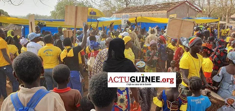 kantouma - Campagne électorale : Diakaria Koulibaly ovationné à Kantoumanina(Mandiana)