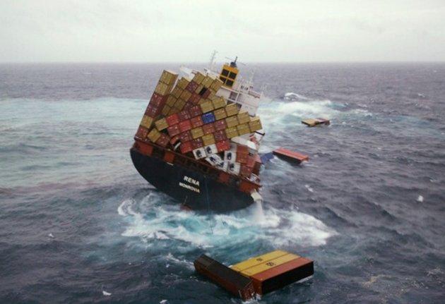 conteneurs perdus en mer