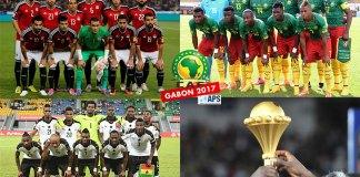 Egypte, Cameroun, Ghana