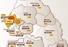 La carte électorale du Sénégal