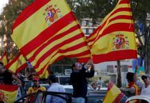 Les ant-indépendantistes manifestent à Barcelone