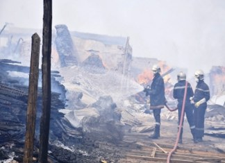 L'incendie du parc Lambaye de Pikine