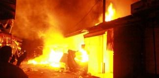 L'incendie au marché central de Saint-Louis