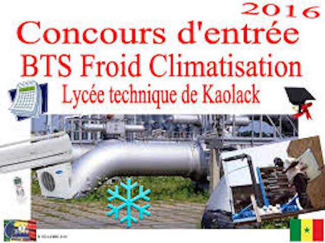 Le lycée technique de Kaolack spécialisé en froid et climatisation