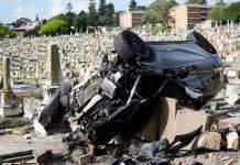 L'automobiliste ivre finit sa course au cimetière