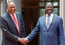 Réconciliation surprise entre Uhuru Kenyatta et Raïla Odinga