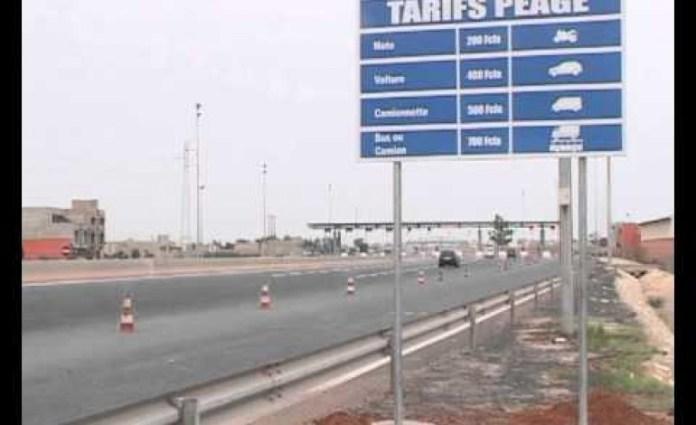 Les tarifs du péage sur l'autoroute à revoir avant fin juin