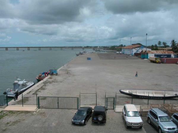 La construction du port de pêche de Boudody