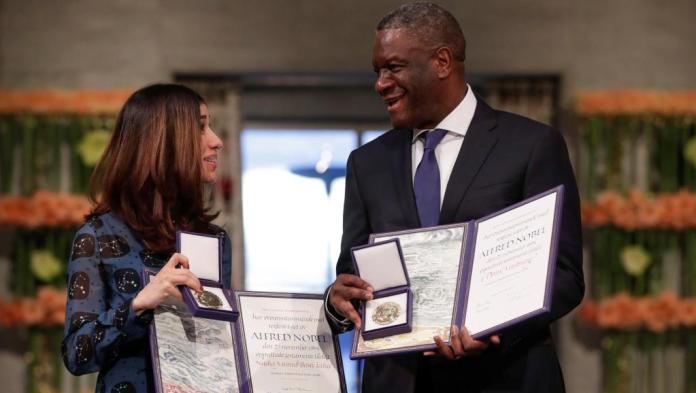 Dr Denis Mukwege et Nadia Murad Prix Nobel de la Paix