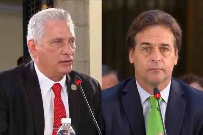 ¡EL PRESIDENTE DE URUGUAY LUIS LACALLE POU DEJÓ EN RIDICULO AL TIRANO MIGUEL DÍAZ-CANEL EN LA CUMBRE CELAC!
