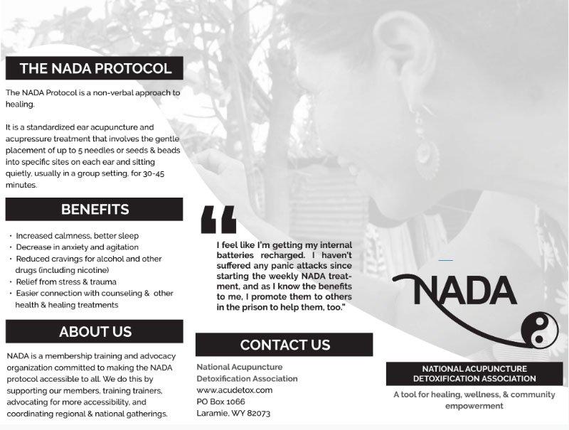 NADA Brochure – black and white