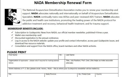 NADA Membership Renewal Form