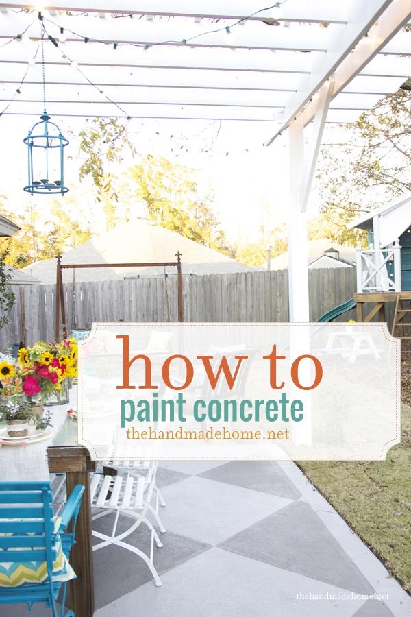 diy saturday painted concrete patio