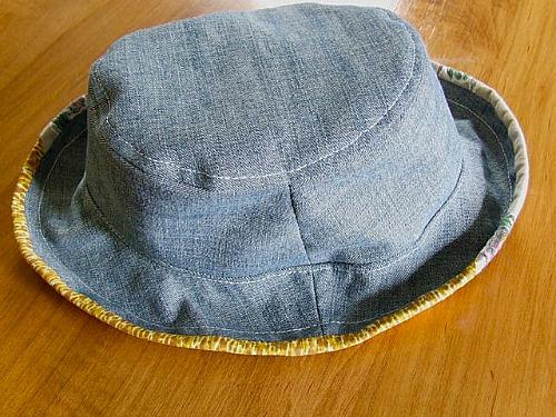 DIY denim sun hat
