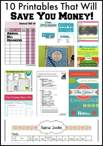 15 Free Printables to Save You Money- These 15 free printables will save you money and keep your financial life organized. They're a must for any budget binder!