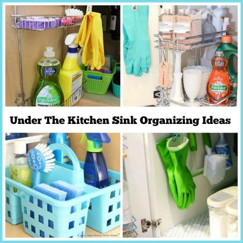 how to organize under the kitchen sink