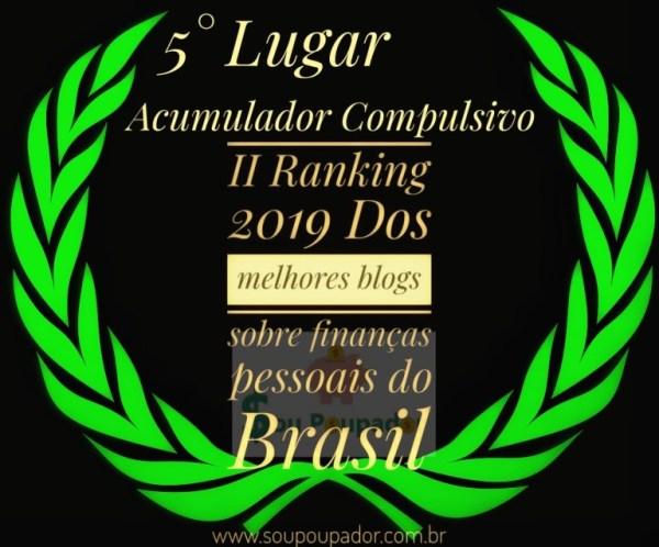 Estamos no Top5 de melhores blogs de finanças pessoais do Brasil!