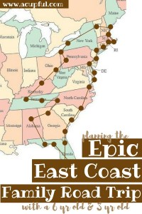 East coast family road trip