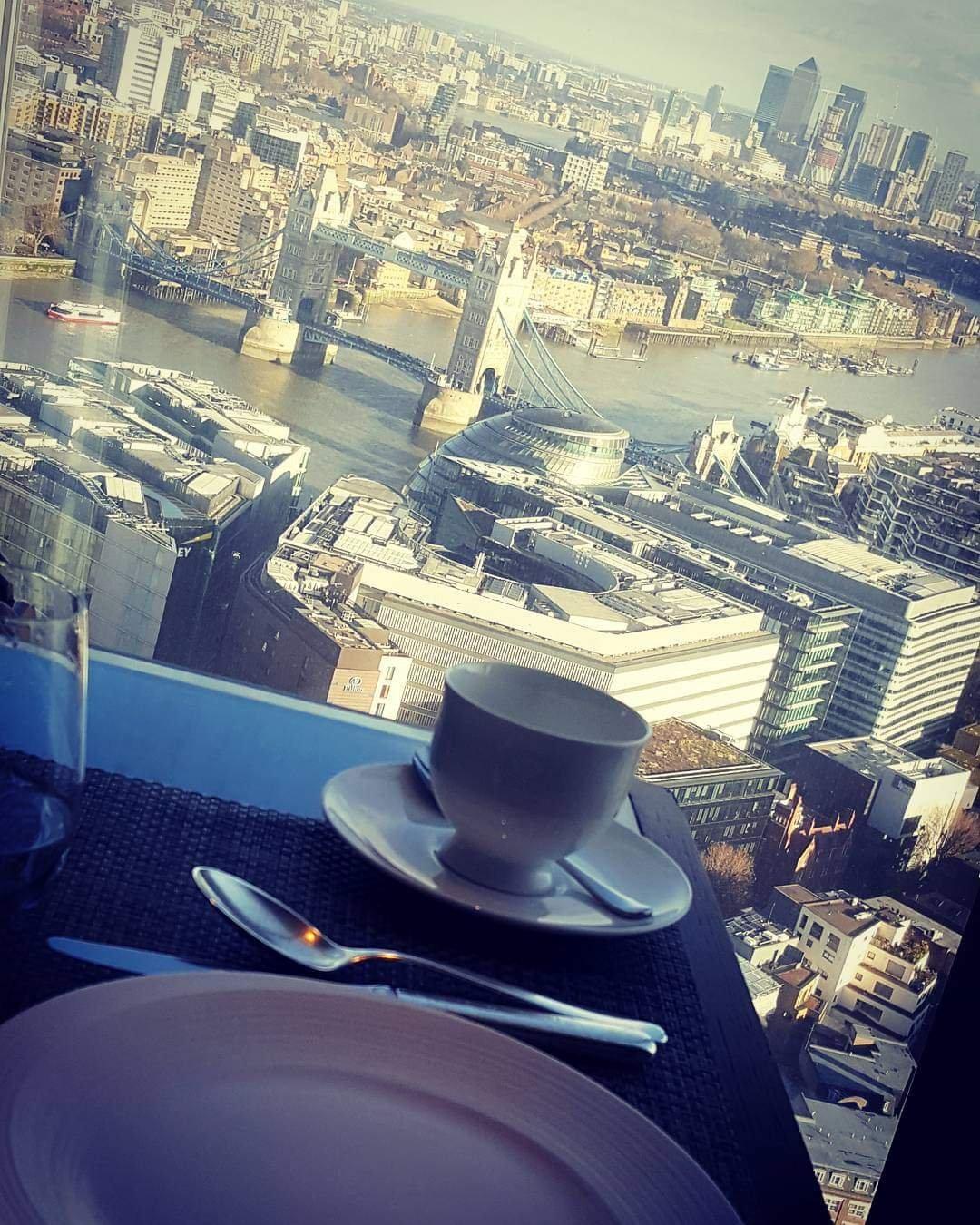 Afternoon Tea at The Shard. London.