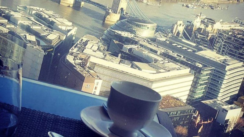Afternoon Tea at The Shard. London.