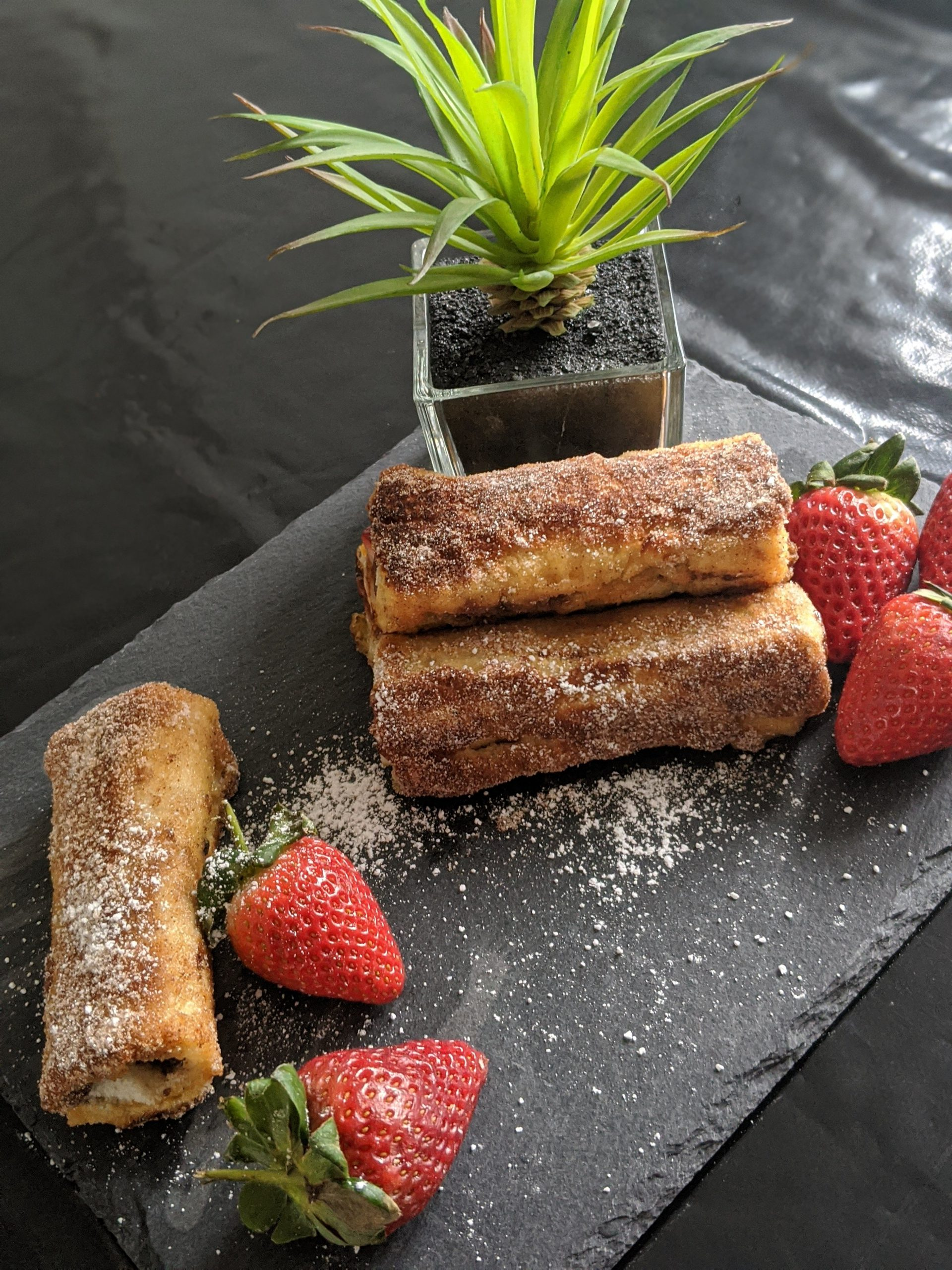 Nutella and Strawberry French Toast Rolls