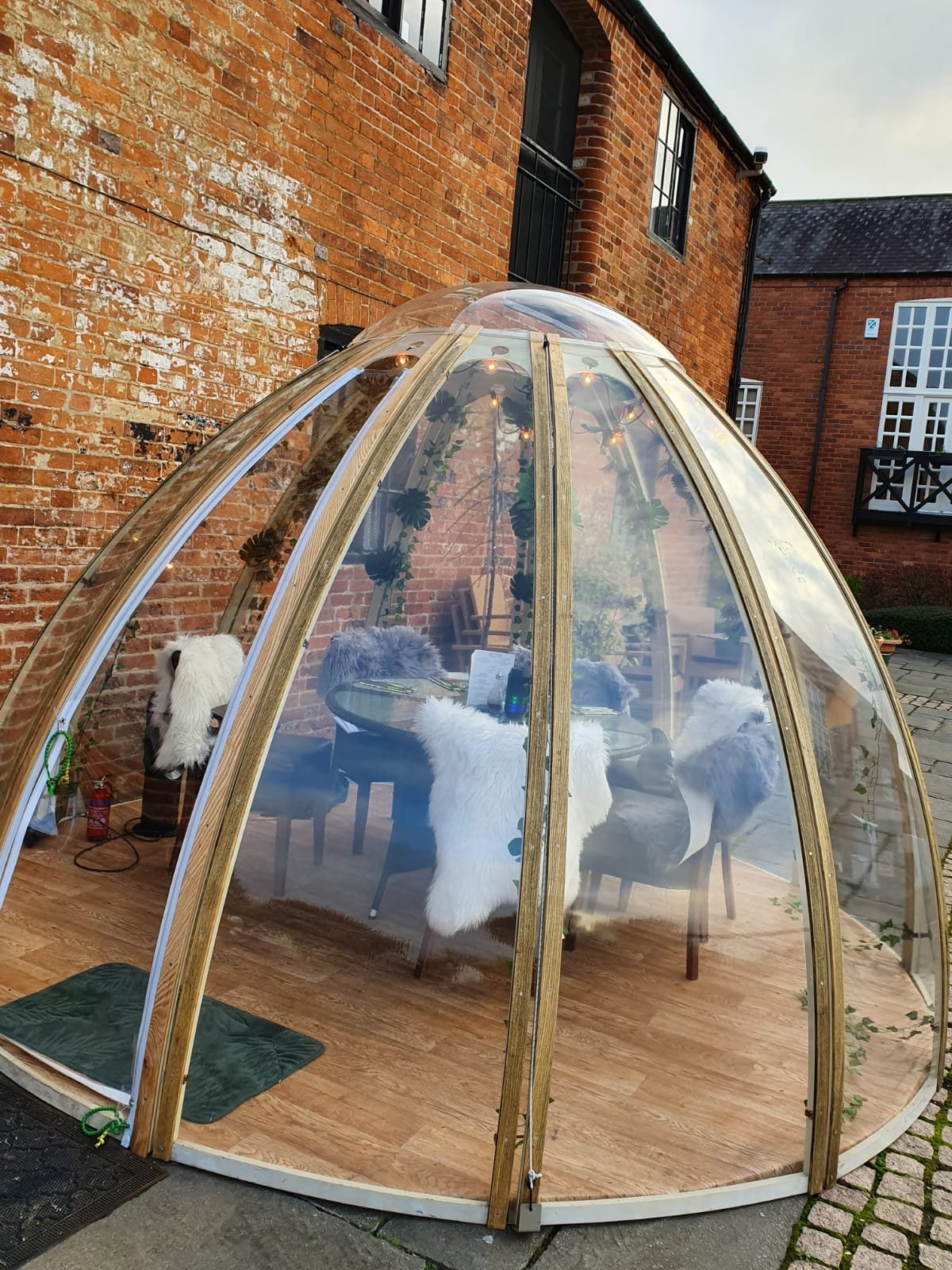 Dining in an Igloo. The Waterfront- Market Harbrough.