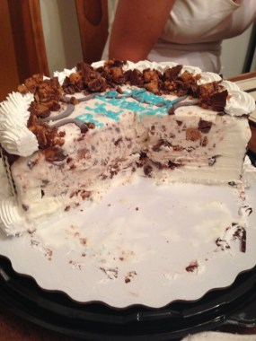 Reese Peanut Butter Cup Cake- My birthday