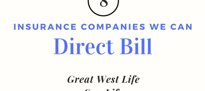 Direct Billing Available at Our Clinic