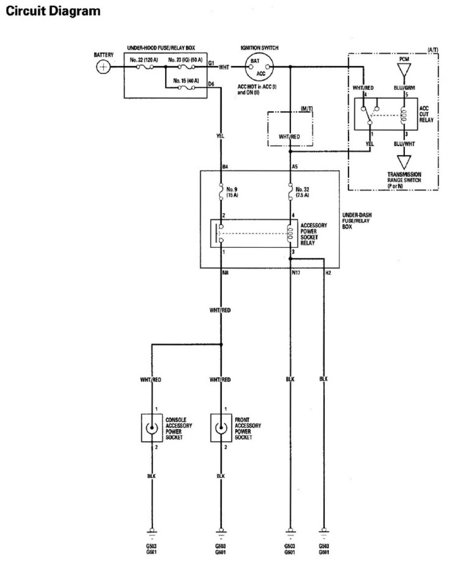 03 Honda Accord Fuse Box Wiring Library 90 Ignition Trigger