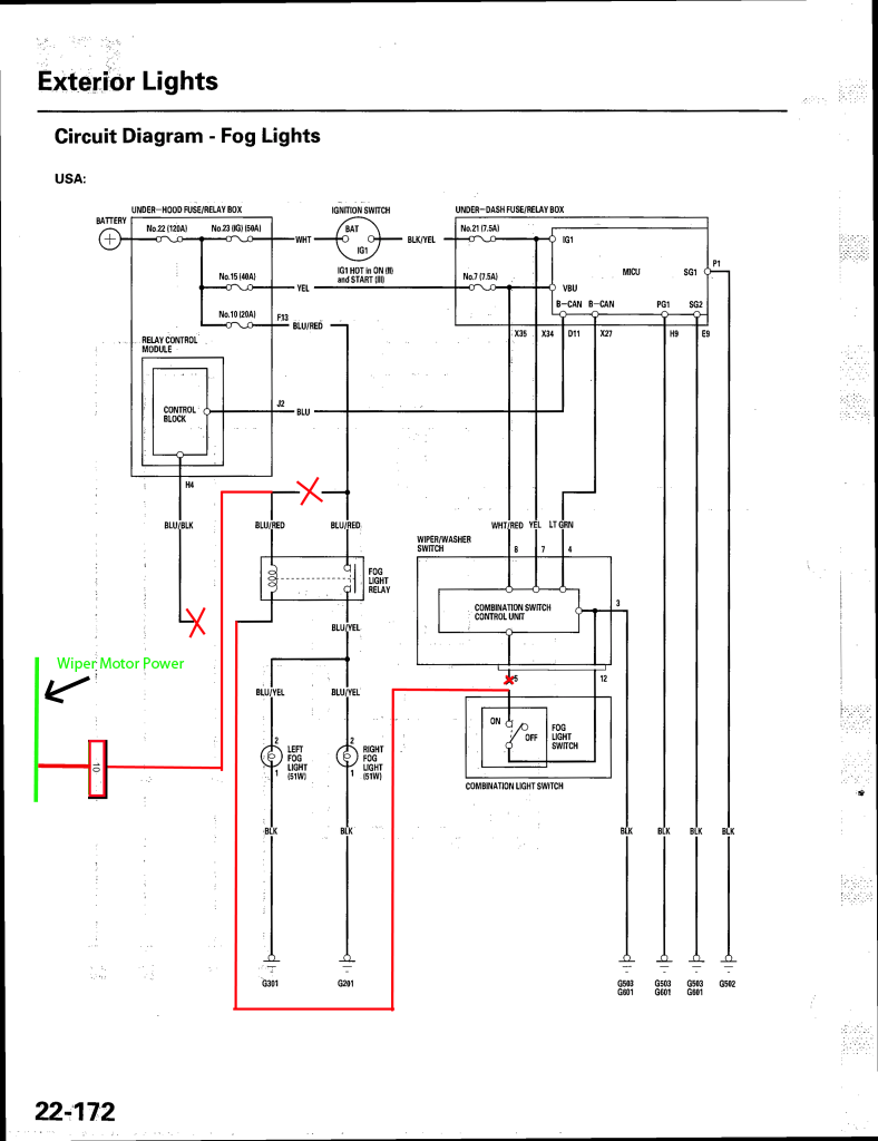 1990 Honda Accord Wiring Schematic Diagram