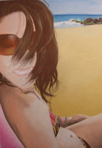 "Self Portrait, pastel 40"" x 28"""