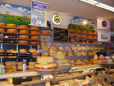 Lots of cheese in the Netherlands