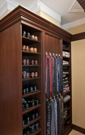 590 tie rack and shoe shelves
