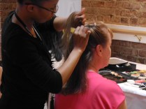 Shoppers were treated to free quick hairstyles by Paul Mithchell - The School Tysons Corner