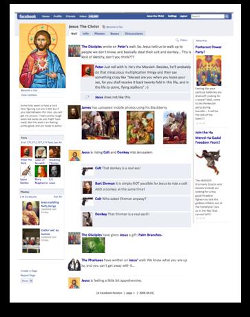Jesus Facebook Passion