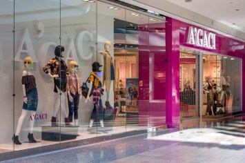 A'gaci Storefront in Galleria Mall in Henderson Nevada