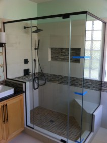 Custom Glass Shower Door Enclosure System