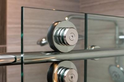 Close-up of Skyline Shower Door Roller System