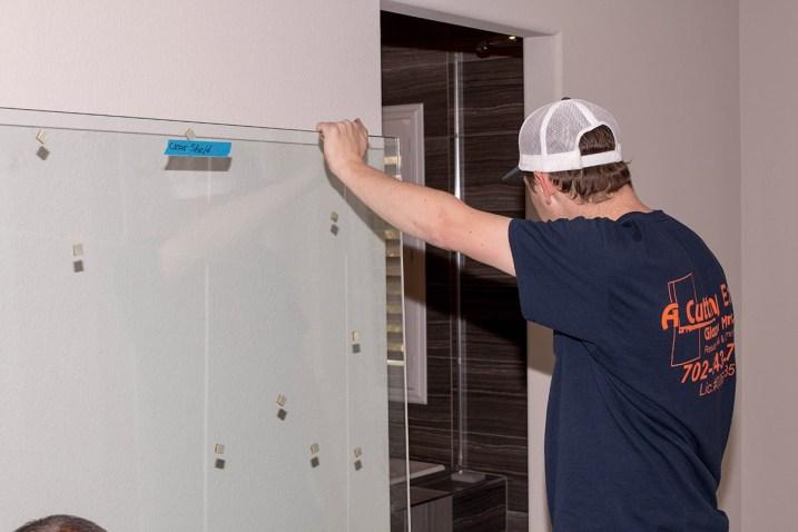 Custom Shower Door Install - A Cutting Edge Glass & Mirror