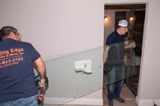 Glaziers Carrying Shower Door