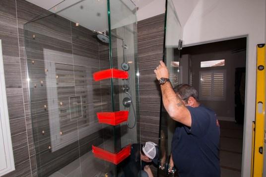 "Standard 3/8"" Shower Door Enclosure System Installation"