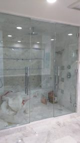 Beautiful Double Glass Shower Door Enclosure System