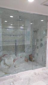 Beautiful Double Glass Shower Door Enclosure System