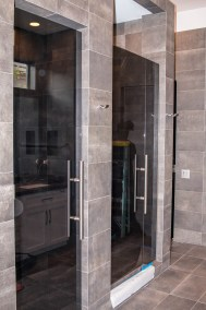 Custom Shower Door Enclosure and Bathroom Door