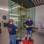 A Cutting Edge Glass Professionals Hard at Work