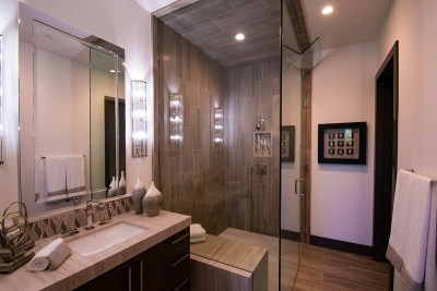Beautiful Custom Shower Door Enclosure by A Cutting Edge Glass and Mirror