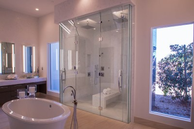 Master Bedroom Custom Glass Shower Door Enclosure System
