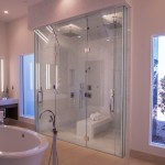 Master Bedroom Custom Glass Shower Door Enclosure System