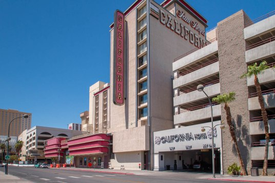 Hotel California Exterior - Photo by A Cutting Edge Glass & Mirror